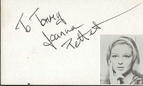 Joanna Pettet Signed Vintage 3x5 Index Card Casino Royale B - JSA Certified from HollywoodMemorabilia