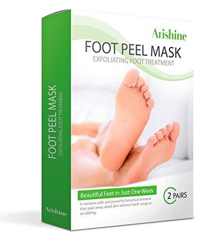 Flax USA Exfoliating Foot Peel Mask, Soft & Smooth Feet, Peeling Away Rough Dead Skin & Calluses in 1-2 Weeks, Repairing Exfoliant Treatment by Arishine -