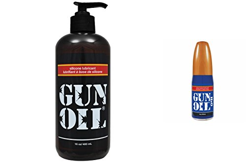 Gun Oil Bundle- Silicone Based Personal Lubricant 16-Ounce and H2O 2-Ounce by Empowered Products