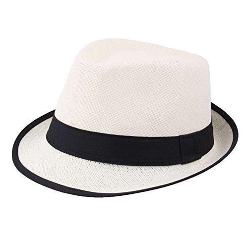 Modissima Merica Trilby Hat Size 58 cm Natural-Black 62881df21c65