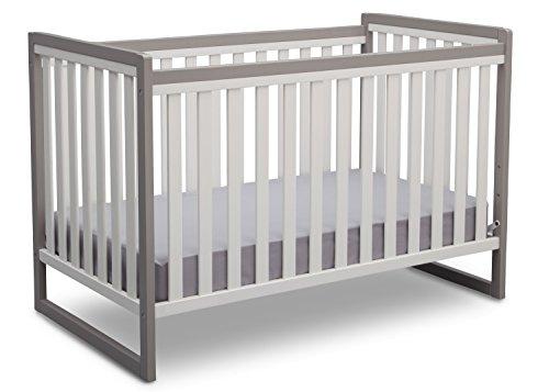 Delta Children Urban Classic 3-in-1 Convertible Crib, White/Grey