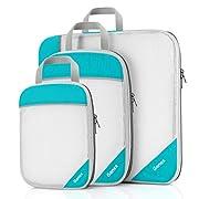 Compression Packing Cubes 3/4er Set, Gonex Kleidertaschen 4-teilig Verpackungswürfel, Kleidertaschen Set…