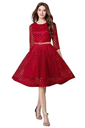 Mohit Creations Rouge Foncé Robe Design