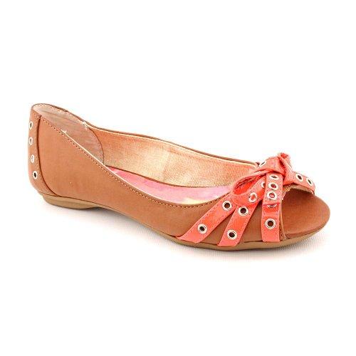 Style & Co Women's Debra Peep-Toe Ballet Flats in Caramel Size 8.5
