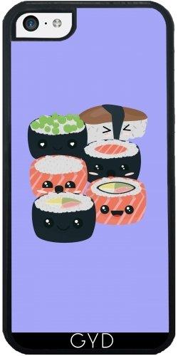 Coque Silicone pour Iphone 5C - Ensemble De Sushi Drôle by ilovecotton