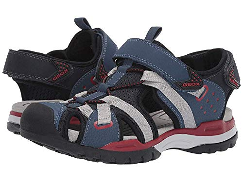 Geox J Borealis Boy B Closed Toe Sandals, (Navy/Red C0735), 13 UK Child