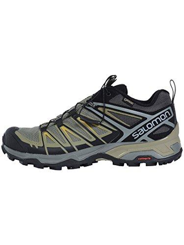 Foncã De kaki Homme Ultra Salomon Gris Basses Gtx Chaussures X 3 Randonnée Foncã XHxw47qn