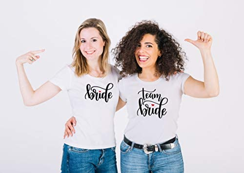 Maglietta Team Bride - Addio al Nubilato - Tshirt 100% Cotone Manica Corta