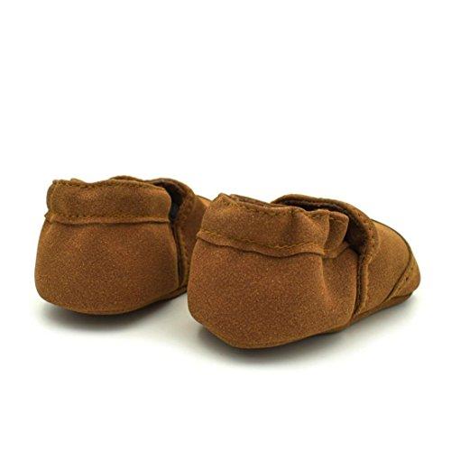 Hunpta Schuhe Kleinkind Baby Jungen Mädchen Neugeborene beschuht weiche Säuglinge weiche Nubuck Schuhe Braun
