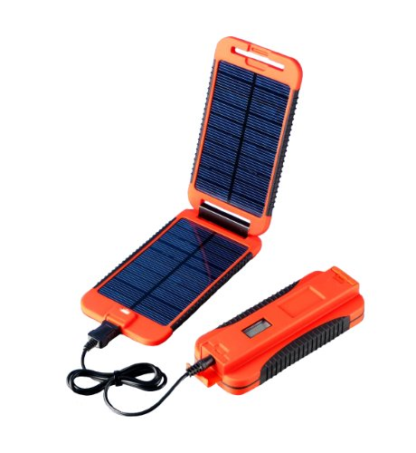Exo-Science Powermonkey Extreme 5V and 12V Solar Portable Charger, Red by Exo-Science