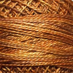 Valdani Perle Cotton Size 8 Embroidery Thread, 72 Yard Ball - o505 Toffee (variegate)