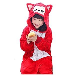 JT-Amigo Kids Unisex Cosplay Pajamas Onesie Fox Costume