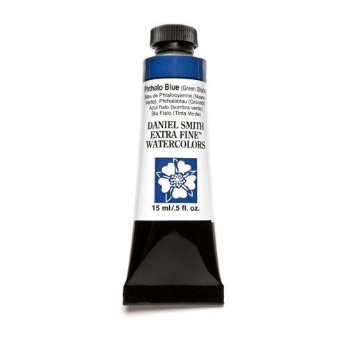 Daniel Smith Extra Fine Watercolor 15ml Paint Tube, Phthalo Blue Green (Transparent Phthalo Green)