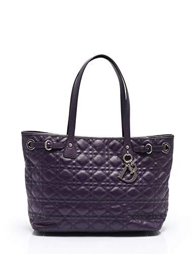 (クリスチャンディオール) Christian Dior カナージュ パナレア トートバッグ コーティングキャンバス レザー 紫 中古   B07RLTJMHQ