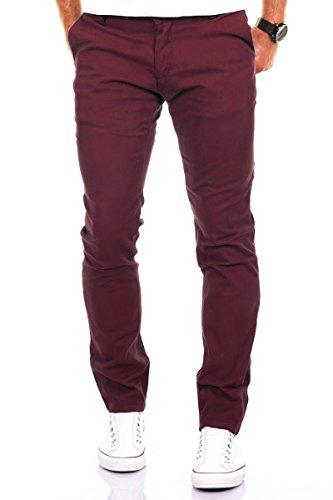 Rosso Diversi Figura Cotone Colori 168 Casual Modell Jeans Merish Uomo Pantaloni sollecitato Chino Bordeaux n8BWAnS17