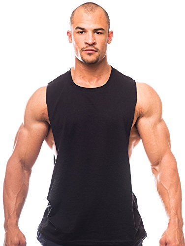 Muscle Cut Workout Crew Neck - Open Sides M100-M-Black