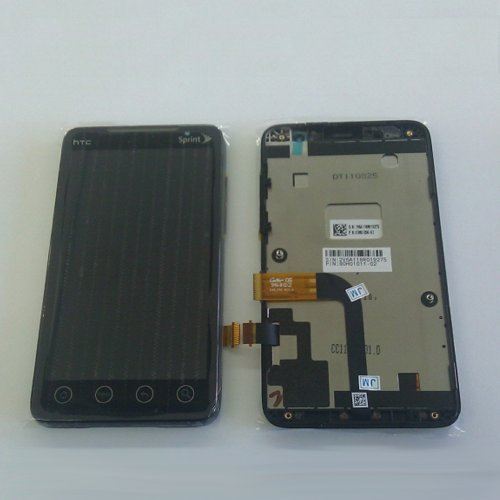 ePartSolution-HTC EVO 4G Sprint Narrow Flex LCD & Touchscreen Assembly with bezel Front Housing Faceplate Replacement Part USA Seller