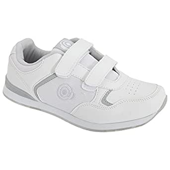 Dek Womens/Ladies Lady Skipper Touch Fastening Trainer-Style Bowling Shoes (UK Size: 4 UK) (White)