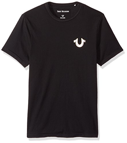True Religion Mens Metal Horseshoe Logo Tee