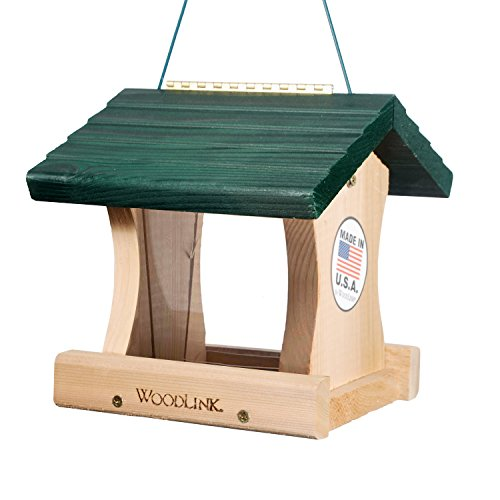 Woodlink GGRF Cedar Garden Roof Feeder, Small, Green