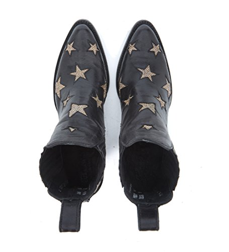 free shipping ebay latest collections Mexicana Women's Circus Texan Black Leather Ankle Boots with Stars Black sale get authentic YTPFCeR6