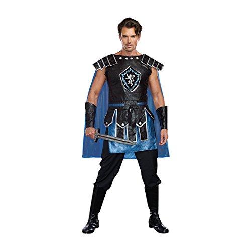 Dreamguy by DG Brands Men's Warrior Costume, King Slayer Male, Blue, Medium (Halloween Costumes Male)