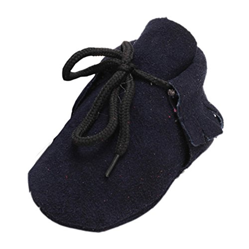 leap frog Lace Up Moccasins, Baby Jungen Lauflernschuhe Navy