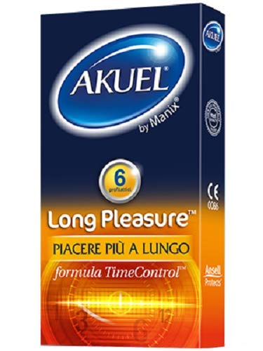 akuel long pleasure  Akuel Long Pleasure, Preservativi Ritardanti Lubrificati, 6 Pezzi ...