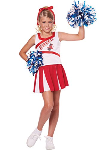 [High School Cheerleader Cheer Girls Child Costume] (Marionette Girl Costume)