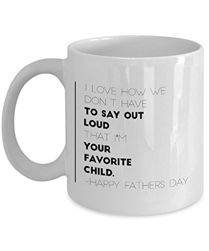 Krazo World - Favorite Child Fathers Day Mug 11 Ounce Coffee (Qute Couple)