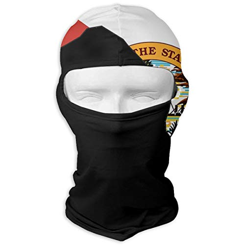 PIOL Neck Scarf Sunscreen Hats Ski Mask Florida Map USA Flag Sun UV Protection Dust Protection Wind-Resistant Face Mask for Running Cycling -