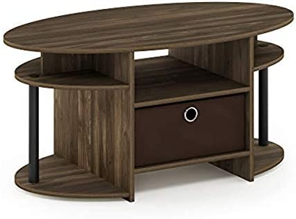 Cheap FURINNO Jaya Oval Coffee Table living room table for sale