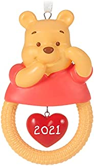 Hallmark Keepsake Christmas Ornament, Year Dated 2021, Disney Winnie The Pooh Baby's First Christmas, Porc