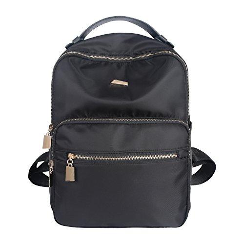 (Casual Lightweight Nylon Women Girl Backpack Purse Travel Work College School Bag)