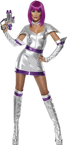 Fever Women's Space Cadet, Silver, Medium - Alien Costumes