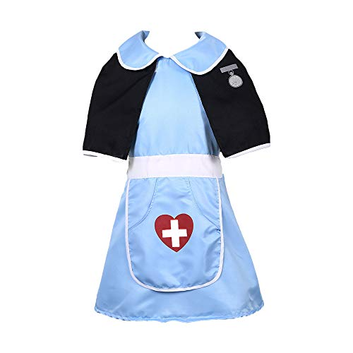 MaxTide Girls' Halloween Blue Nurse Costumes Cosplay Nurses(M(Height:39-47 Inch)) -