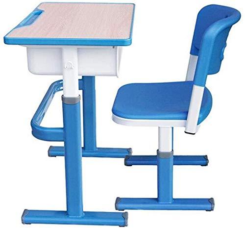 Oanzryybz Escritorio mesas for niños y Juego de sillas, Regulable ...