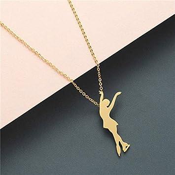 Collar Mujer Acero Inoxidable Joyas Yoga Ballet Cadena ...