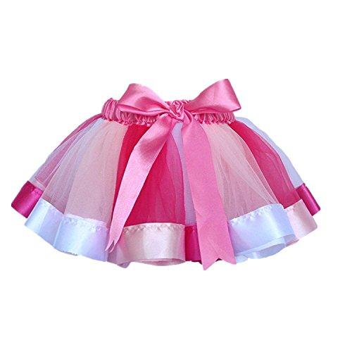 Lokouo Little Kids Girls Rainbow Skirt Cute Tutu Dance Ballet Party Dress,S/0-2Y,2#