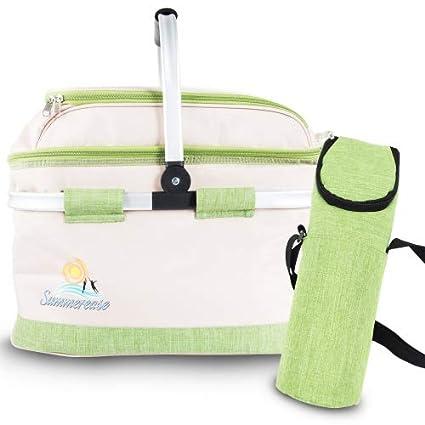 Amazon.com: Sumerease - Cestas de picnic con aislamiento ...