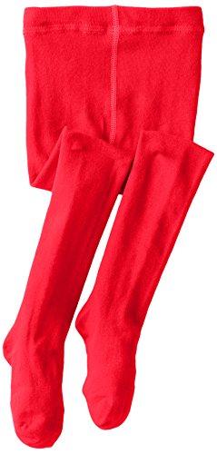 Jefferies Socks Little Girls'  Seamless Organic Cotton Tights, Red, 2-4 Years -
