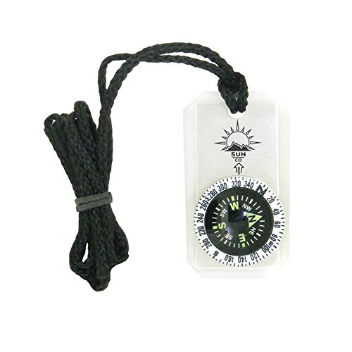 MiniComp II - Mini Orienteering Compass with Rotating Bezel| Easy-to-Read Zipperpull Compass for Jacket, Parka, or Pack