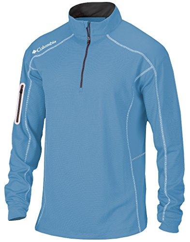 Columbia Golf Omni-Wick Shotgun 1/4 Zip Long Sleeve Pullover(Whitecap Blue) (XXL)