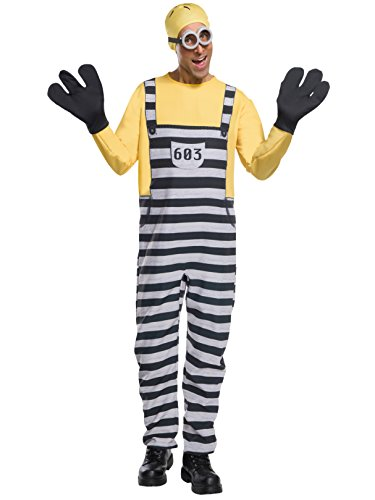 Rubie's Men's Despicable Me 3 Jail Minion Tom Costume, As As Shown, Extra-Large ()