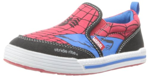 Stride Rite Spider-Man Slip-On Sneaker (Toddler/Little Kid),Red/Blue,9.5 M US Toddler