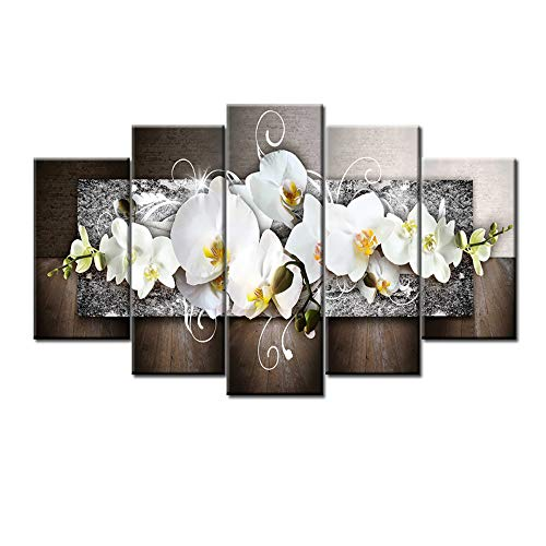 Yezijin Fashion Wall Art Canvas Painting 5 Pieces Mangnolia Flower (S)