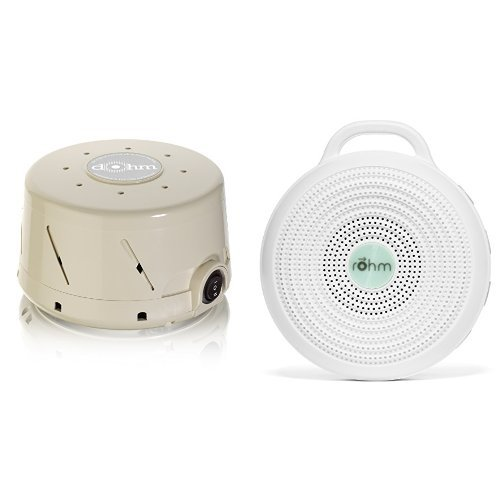Marpac All-Natural White Noise Sound Machine Home and Away Bundle , Tan (Marpac Dohm Ds All Natural Sound Machine)