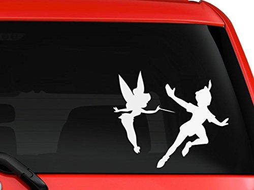 LA DECAL Peter Pan and Tinkerbell children cartoon silhouette car truck decal sticker 6