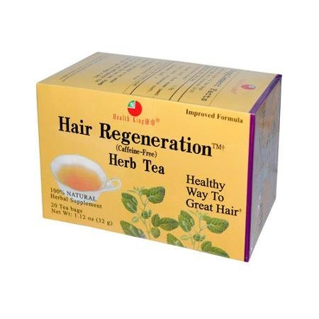 Health King Hair Regeneration Herb Tea Bags - 20 Count, 1.12 Ounce ( 3 Pack)