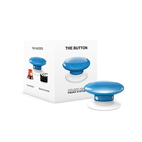 Fibaro Button Z-Wave Scene Controller - Blue